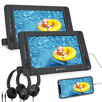 "10.1"" Portable Region Free DVD Player Dual Screen LCD Car Headrest Monitor MP3"