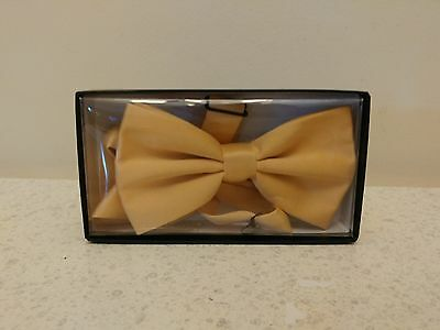 Yellow Pretied Bowtie Adjustable Excellent Quality