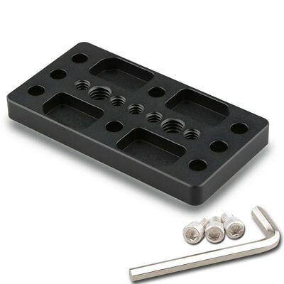 """US CAMVATE 1/4"""" 3/8"""" Cheese Plate Camera Mount Plate for DSLR Cage Rig Stabilize"""