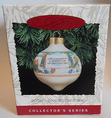 "1993 Hallmark Keepsake Ornament ""Betsey's Country Christmas"" #2 in Series MIB"
