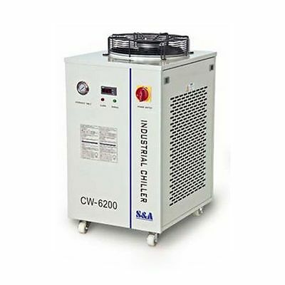 CW-6200BI Industrial Water Chiller for Dual 200W CO2 Glass Laser Tubes 220V 60HZ