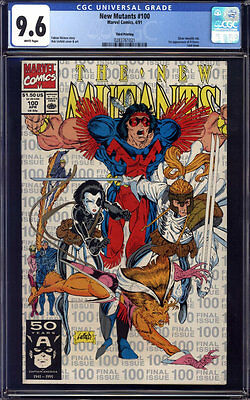New Mutants #100 CGC 9.6 3rd/Third Print!! Silver Ink!! 1st X-Force!!!