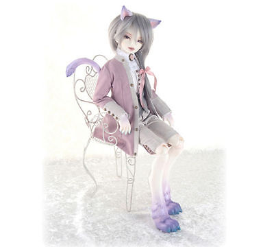 1/4 BJD doll Cheshire Cat act ear+animal body +face make up a resin toy