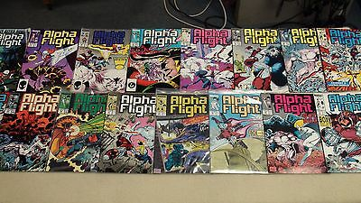 Huge Lot Of 34 Alpha Flight Comics Includes Giant Sized Annual