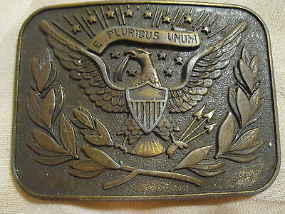 Union Soldier Brass Belt Buckle - Indian Wars - Usa Cavalry - Civil War