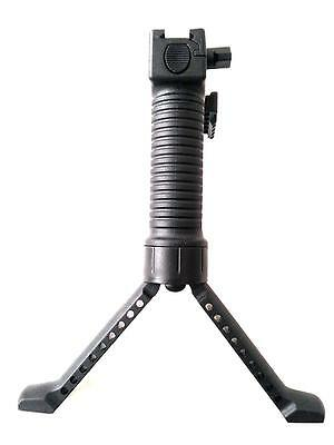 Airsoft Tactical RIS Fore Bipod Grip Quick Detachable with 20mm Rail Side Mount