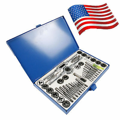 US 40pc Metric Tap and Die Set | Tapping Threading Chasing Storage Case