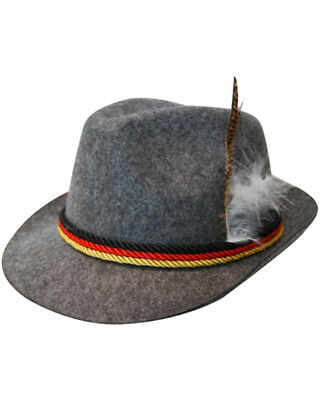 Oktoberfest German Hat With Feather One Size