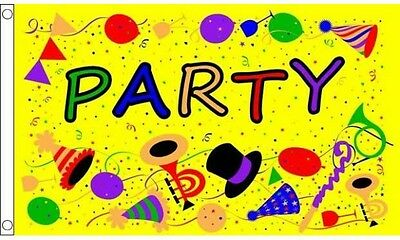 Party Time Yellow Flag 5ft x3ft (150cm x 90cm) Decoration