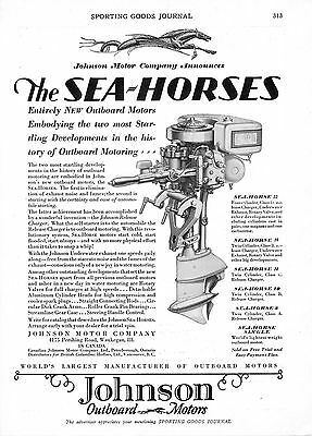 Johnson Outboard Motors  -  Waukegan, Illinois   -  Seahorse  -   1929