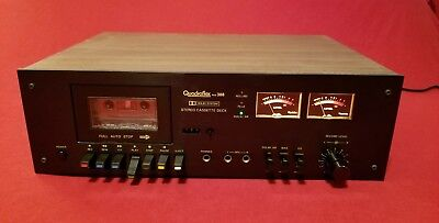 Rare!!! Vintage Quadraflex Pcd 388 Stereo Cassette Deck Player Recorder Japan!!!
