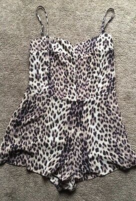 GLASSONS Size 10 Leopard Print Play suit Jump Suit • As New • Summer • Beach