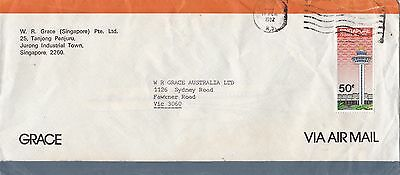 BD888) Singapore 1982 nice advertising Airmail cover to Australia