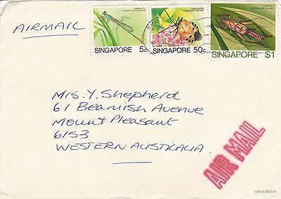 BD894) Singapore nice Airmail cover to Australia