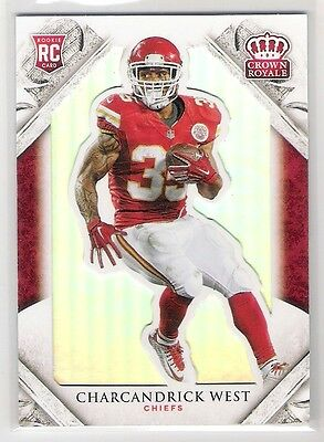 Charcandrick West 2015 Panini Crown Royale Rc Rookie Card Numbered 080/199
