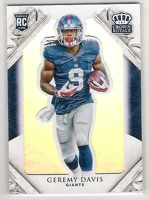 Geremy Davis 2015 Panini Crown Royale Rc Rookie Card Numbered 182/199