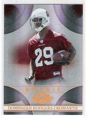 Dominique Rodgers-Cromartie 2008 Donruss Threads Rookie Card Numbered 45/50