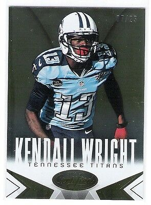 """Kendall Wright 2014 Panini Certified Gold Numbered To """"only"""" 07/25"""