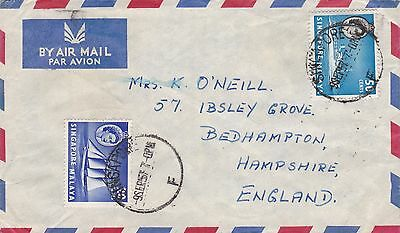 BD899) Singapore 1957 nice Airmail cover to England