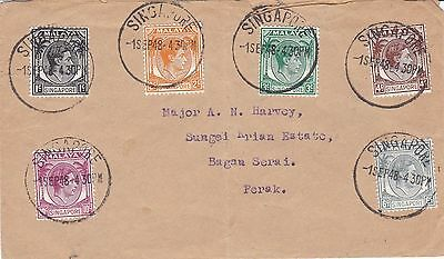 BD910) Singapore 1948 nice cover to Perak