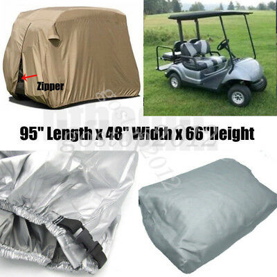 Silver 2 Seater Waterproof Heavy Duty Golf Cart Buggy Storage Cover Yamaha Cart