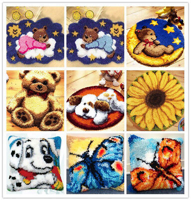 GEX Latch Hook Kit Rug Kushion About 19.6inch Length DIY Craft Needle Cute Rug