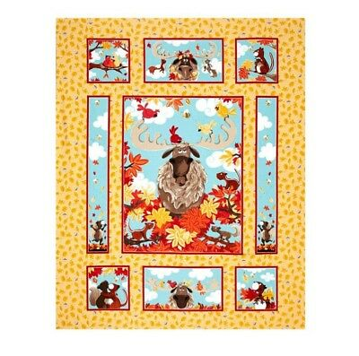 Susybee * Bruce The Moose Quilt Panel * New * Free Post * 🐂