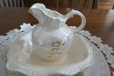 Decorative Vintage  Luster Small  Jug and Bowl