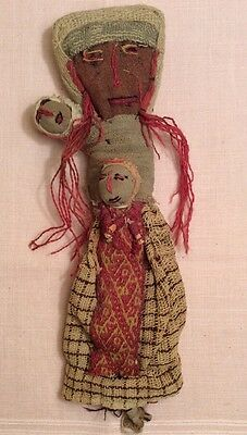 Vintage Peruvian Grave Burial Mummy Chancay Voodoo Cloth Doll Made by Artist