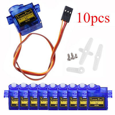 10pcs 9G Mini Micro Servo For SG90 RC Robot Helicopter Airplane Car Boat
