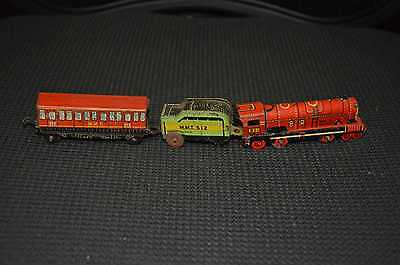 Small Vintage Australian Made Tin Toy Train Set - AF.