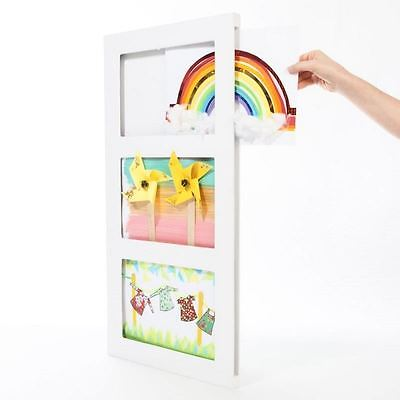 Articulate A4 Kid's Art Frame Triple Picture Gallery A4 MDF Modern White Display