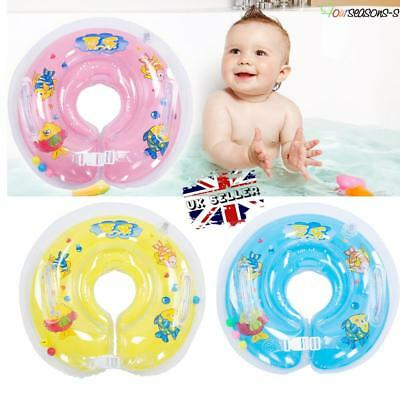 UK Baby Swimming Adjustable Neck Float Inflatable Ring Safety Aids 1-18 Months