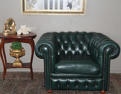 Divine Gainsville Full Leather Chesterfield Armchair Arm Chair Tub Lounge Chair