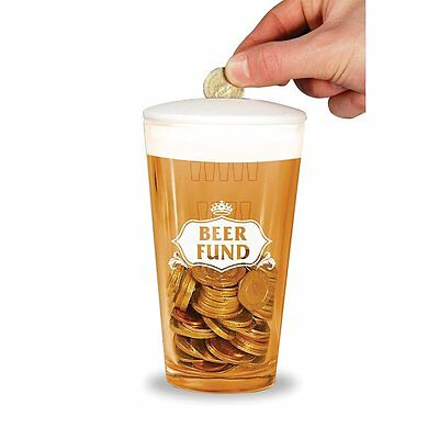 Real Pint Glass Beer Fund Money Box