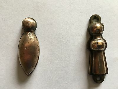 Pair of Vintage BRASS Escutcheon / Keyhole Cover