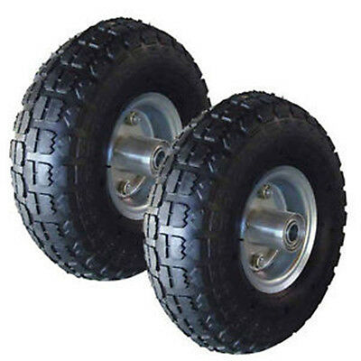 """1Pair of  10"""" INCH PNEUMATIC SACK HAND TRUCK TROLLEY WHEEL BARROW TYRE REPLACE"""