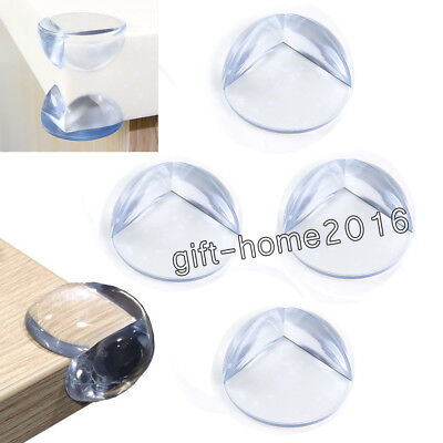 Toddler Child 4 Piece Clear Corner Glass Table Cushion Edge Guard Safety Kit