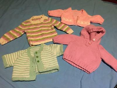 Baby Girl Tiny Tiny Jumper / Cardigan x 4