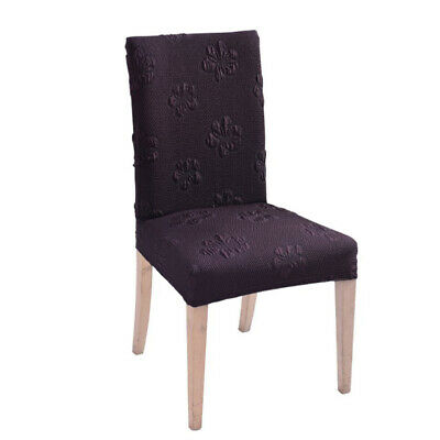 Jacquard Seat Covers Kitchen Bar Dining Chair Cover Hotel Wedding Decor 3 Colors