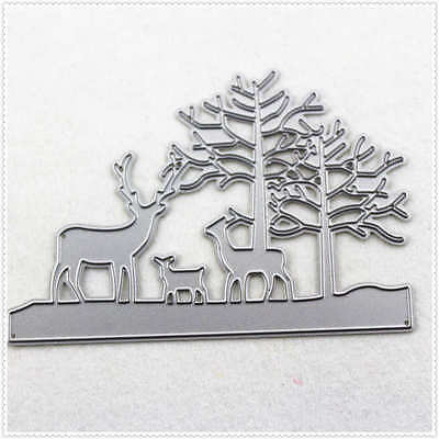 10X11CM Metal craft Forest and magical deer paper die cutting dies Scrapbooking