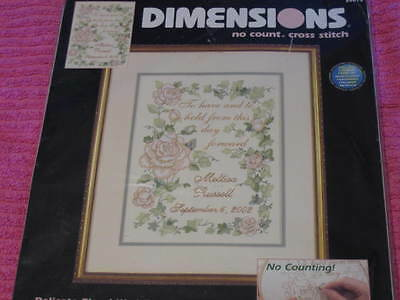 Delicate Floral Wedding Record Cross Stitch Kit