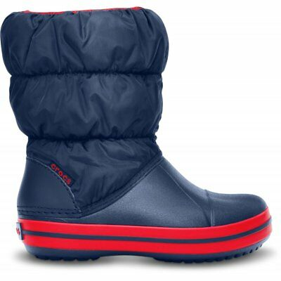 Crocs Kids Winter Puff Boot Navy/Red, puffed boots for warmth