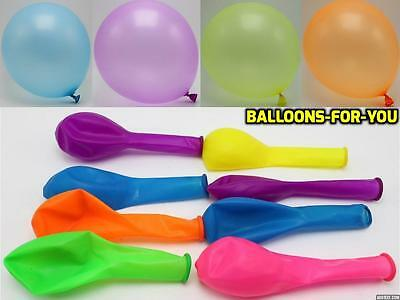 100 PLAIN BALONS BALLON HELIUM BALLOONS Quality BIRTHDAY PARTY & WEDDING BALOON
