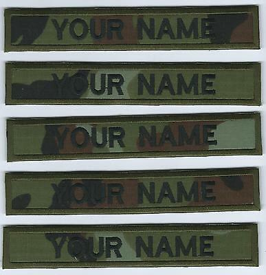 Camo Irish Defence Forces X 5 Name Strips Name Tags irish Defence Forces Issue