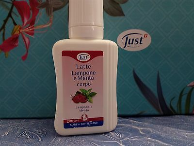 JUST latte corpo lampone e menta da 75ml