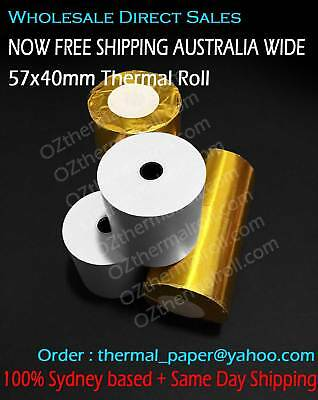 50 Rolls 57x40mm Thermal Roll EFTPOS Cash register Roll