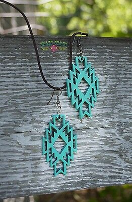 Turquoise Amarillo Aztec Earrings By Crazy Train