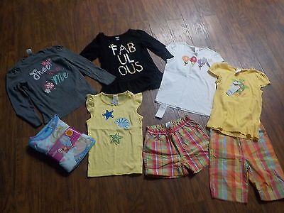 Girls Clothes Size 7/8~ Gymboree  Lot P.J's Shirts & Shorts