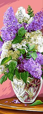 Royal Paris Tapestry/needlepoint Canvas Vase of Lilacs